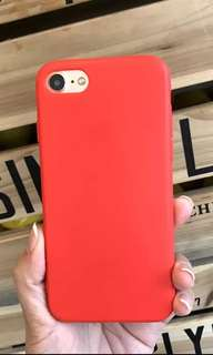 Red soft iPhone 6/6s case