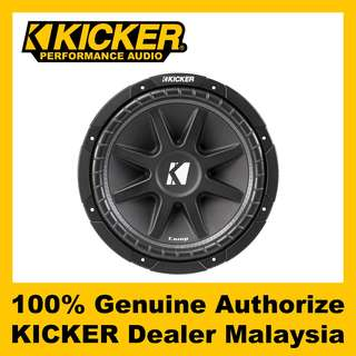 "KICKER Comp 12"" Single 4 ohm Subwoofer, 300W - C124"