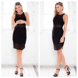 Black Bodycon Party Dress Size 8