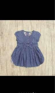Kid girl baby girl infant newborn toddler denim dress skirt