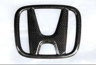 Honda Carbon Fibre print Emblem for Vezel/ HRV