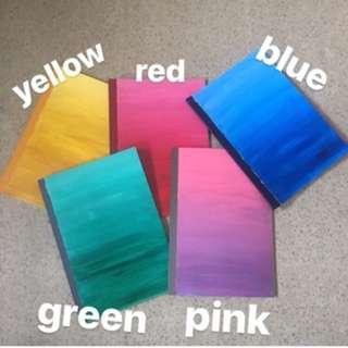 Handpainted Gradient Notebook