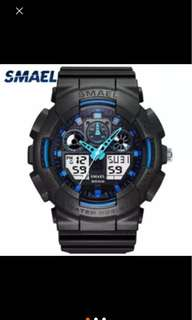 *Free COD* Water Resistant Dual Clock Sporty watch