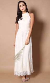 TSW Victoria Lace Maxi Dress in Cream