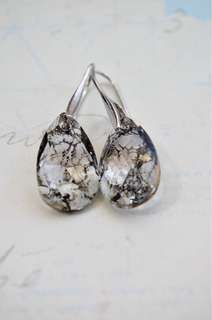 Swarovski Patina Pendant Drop Earrings