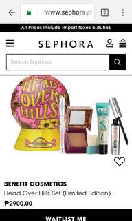 Benefit Cosmetics SET: Hoola Bronzer, They're Real Mascara, POREfessional Primer, Brow Highlight