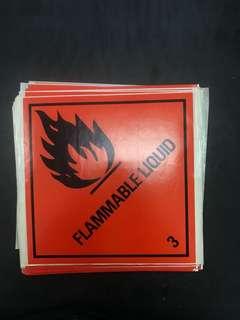 Hazmat Class 3 - Flammable Liquid Labels