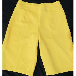 stretch short pants (yellow)