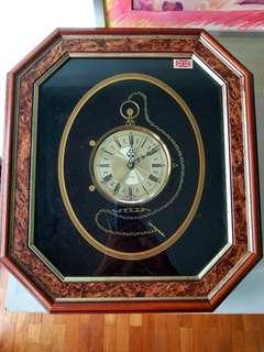 Ken Broadbent collage framed design quartz clock