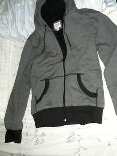 Mossimo Gray Sherpa Hoodie / Jacket