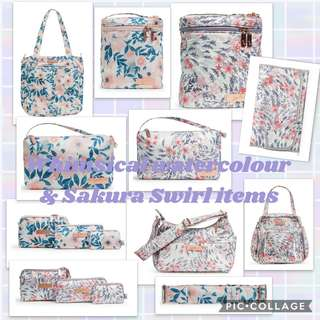 Bnwt whimsical watercolour & sakura swirl
