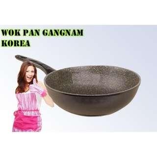 Panci Gangnam Korea Wok 30 Cm Anti Lengket Kualitas Diatas Wajan