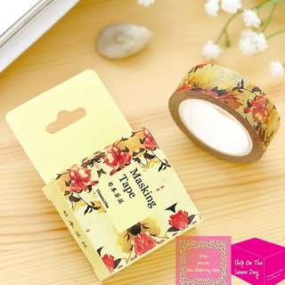 Set of 10m Vintage Camellia Washi Tape
