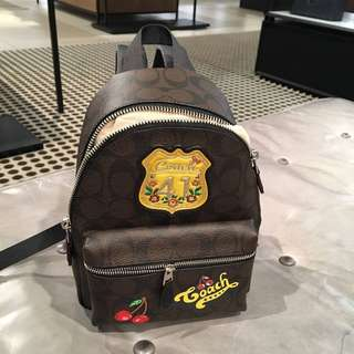 Coach Mini Charlie Backpack with patches