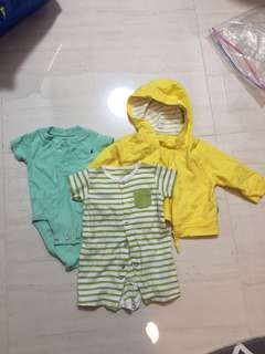 Set of 3 romper and jacket