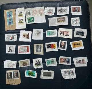 德國郵票一堆包郵不包險