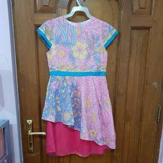 Batik dress pink girl