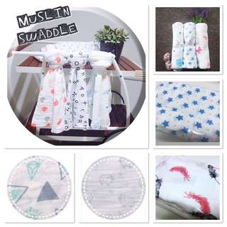 Bamboo/Cotton/ Muslin Swaddle/ Blanket/Towel