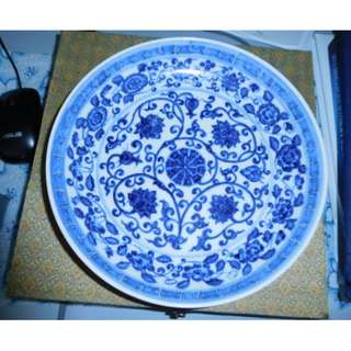 Ming Dynasty - Early Ming Blue & White Imperial Dish