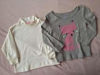Kids warmers/longsleeved tops
