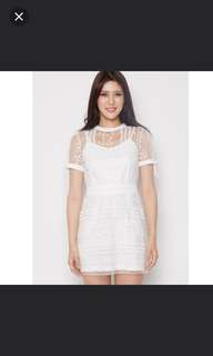[BN] MDS White Lace Dress