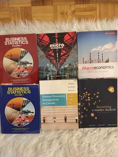 Various First Year Business Textbooks