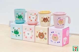 7-11 杯 line friends mug