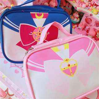 Sailor moon inspired makeup bag pouch case
