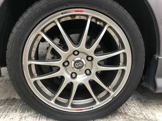 "Sports GTC01 ENKIE 17"" Rim 4pcs Made in Japan"