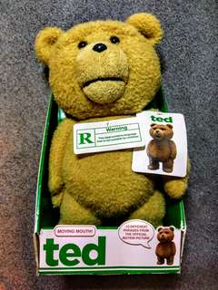 TED teddy bear (new,  still attached with box)