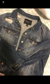 Distressed Denim Oversized Jacket F21