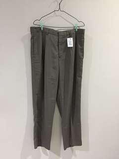 018 Celana Bahan Say Grace Abu Tua