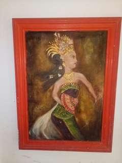 Lukisan orang tari bali