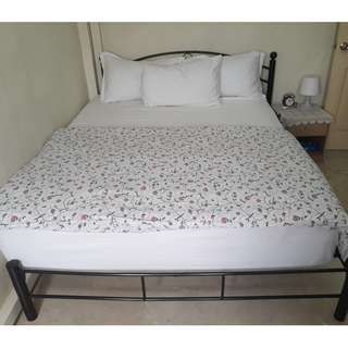 """Super Comfy Queen Bed with 8"""" Spring Mattress and 4"""" topper"""