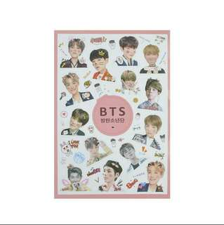 BTS Semi Transparent Stickers #20under