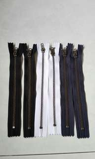 YKK metal zippers 20cm