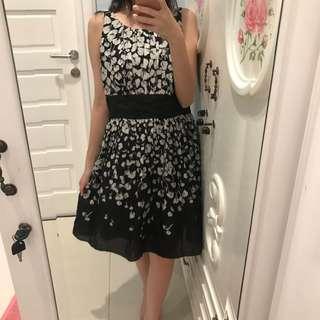 Black white dress #diskonnih