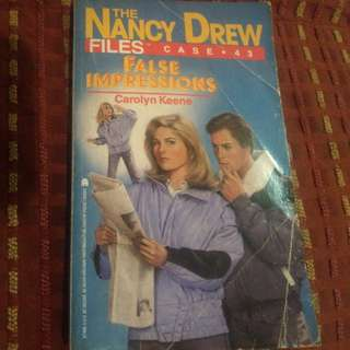 Nancy Drew Files Case 43 False Impression Carolyn Keene Book #bookbazaar