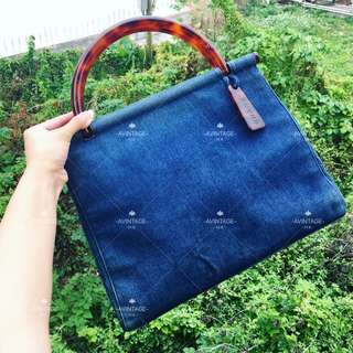 (SOLD)Chanel Vintage 牛仔玳瑁 Handbag