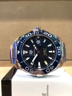 Authentic Tag Heuer Aquaracer WAY201B Blue Dial Automatic Steel Casing Bracelet ( BNIB )