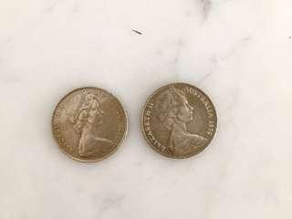 Australia coins (1972, 1979)