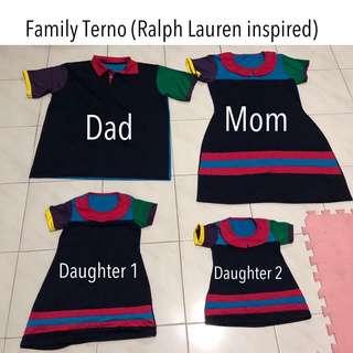 Preloved FAMILY OF 4 TERNO (Ralph Lauren Inspired)