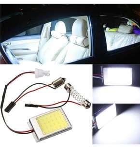 T10 Dome BA9S Festoon Car License Plate COB LED Light Lamp White