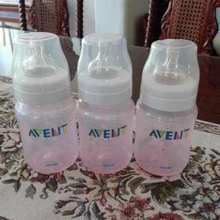 Avent 9oz Pink Bottles