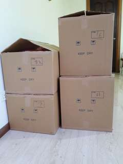 One time used empty carton boxes for house/office move