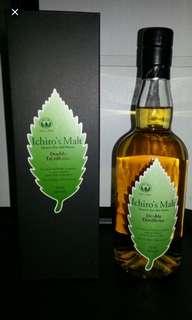 羽生秩父綠葉雙重蒸馏威士忌700mI。