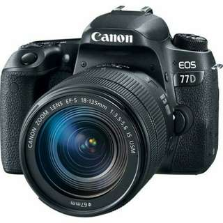 Bisa Kredit Canon EOS 77D DSLR Camera with 18-135mm USM Lens Tanpa CC