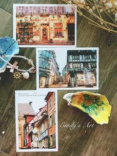 法國聖誕市集限量設計明信片