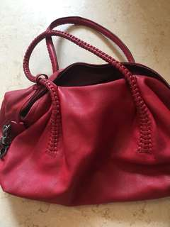 Ferragamo Italian Red Handbag