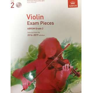 ABRSM Violin Exam Pieces 2016-2019 with CD and Piano Accompaniment Grade 2